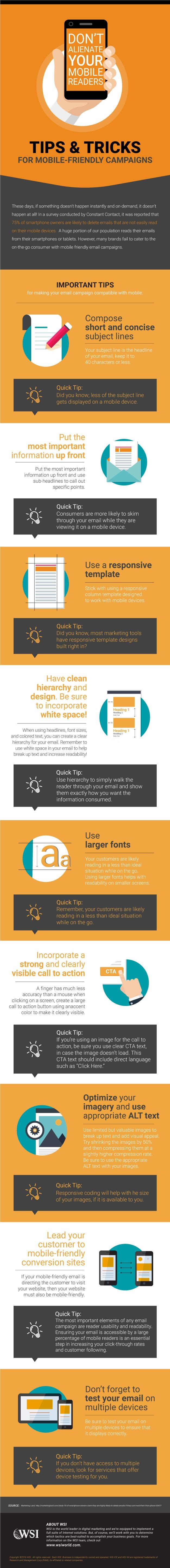 Don't Alienate Your Mobile Readers Infographic