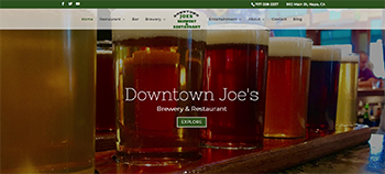 Downtown Joes Brewery and Restaurant for Best Restaurant Website
