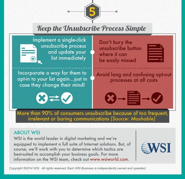 WSI World Blog - How To Stay On The Good Side Of Email Marketing Infographic Image 6