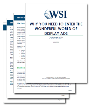 WSI World Blog - Why You Need To Enter The Wonderful World Of Display Ads Image 2