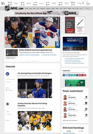 nhl home page