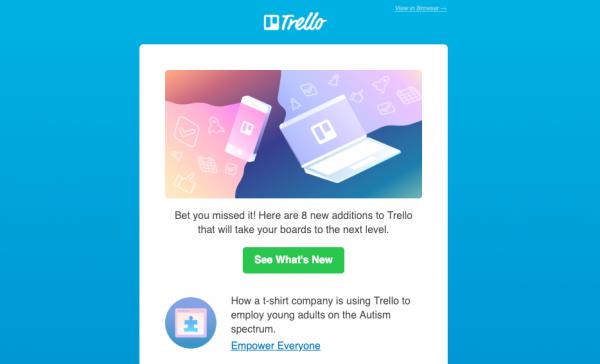 Screenshot of Trello website.