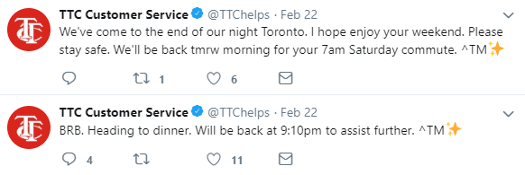 TTC Customer Serice Tweet 2