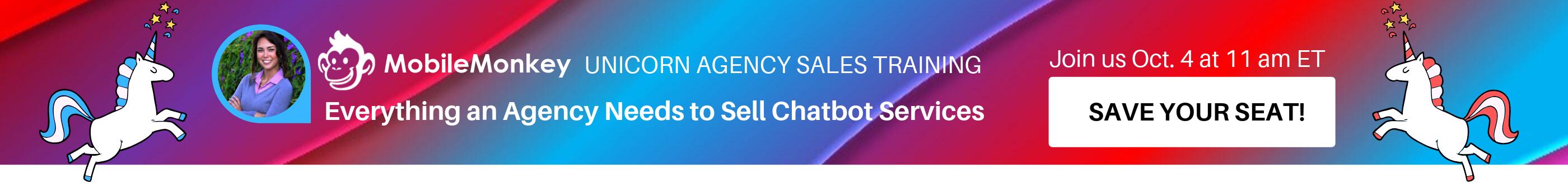 WSI Unicorn Agency Chatbot Sales Webinar Banner