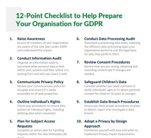 12-Point Checklist for GDPR