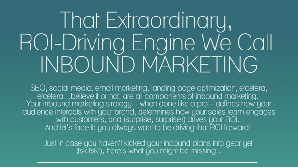Screenshot of the ROI-Driving Engine That We Call Inbound Marketing infographic.