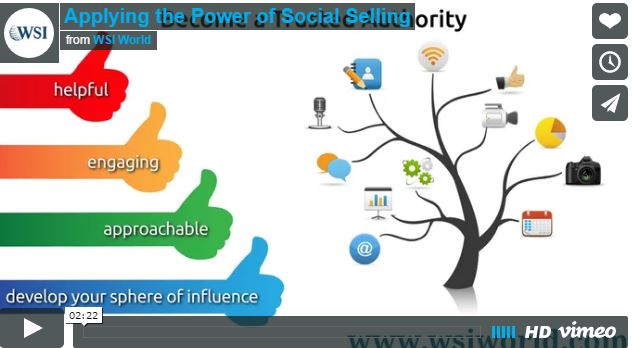 Screenshot of Applying the Power of Social Selling video.