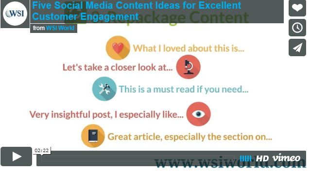 Screenshot of 5 Social Media Content Ideas For Excellent Customer Engagement video.