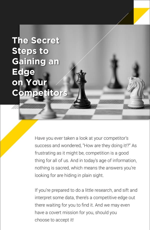 """Screenshot of infographic titled, """"Gaining an Edge on Your Competitors."""""""