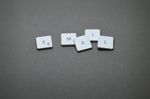 Letters spelling out Email.