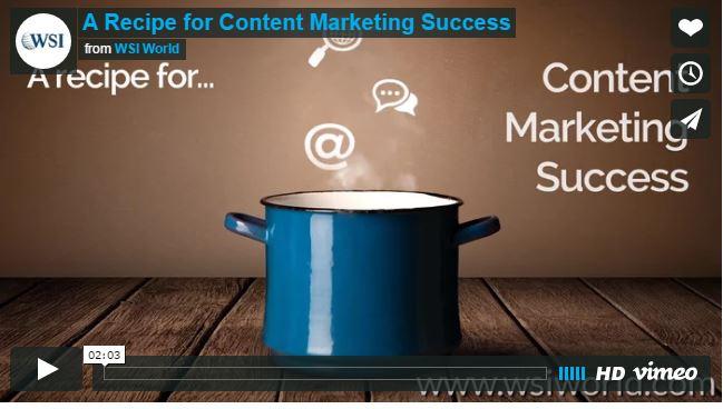 Screenshot of Recipe for Content Marketing Success video.