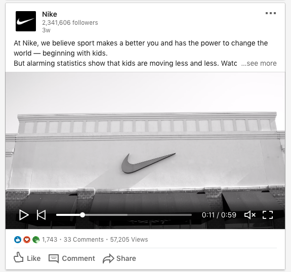 Nike LinkedIn online reputation