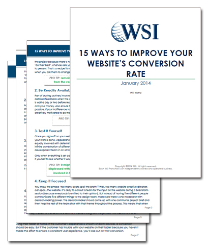 WSI Whitepapers - 15 Ways to Increase Your Website's Conversion Rate