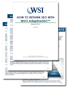 WSI Whitepapers - How To Rethink SEO With WSI's AdaptiveSEO™