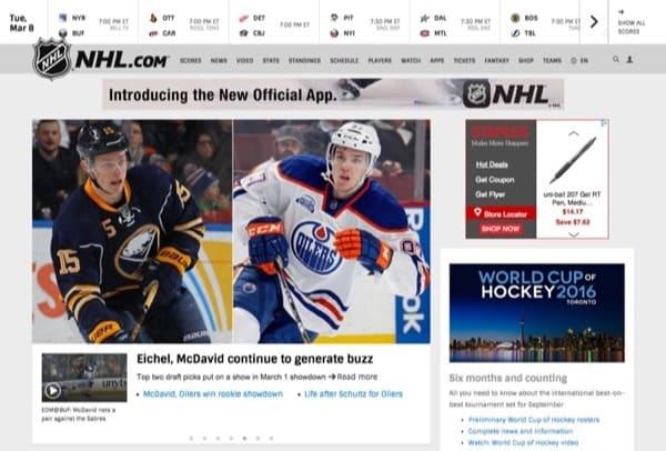 NHL.com Homepage