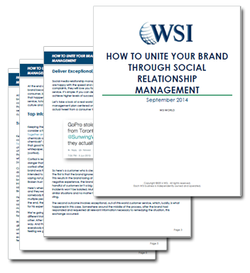 WSI Whitepapers - How To Unite Your Brand With Social Relationship Management